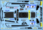 Decal Merc AMG GT3 HTP #47 - Scale 1/32