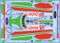 Decal Ford GT 2019 #67   Daytona