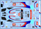 Decal BMW M6 - GT3 - Laguna Seca - # 24 Team RLL
