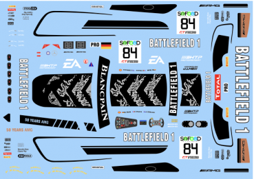 Decal Merc AMG - Battlefield-Spa-2017 #84 - SCALE 1/32