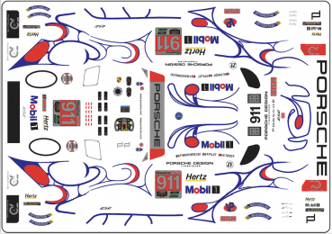 Decal Porsche 911 991 RSR IMSA #911 Petit LM Road Atlanta 2018 Scale 1:32