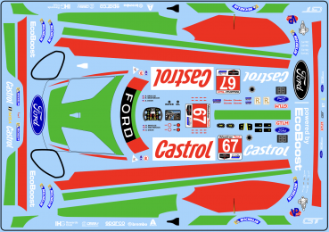 Decal Ford GT 2019 #67   Daytona. Scale 1:32