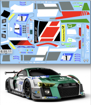 Decal Audi R8 LMS GT3 #1 Audi Sport Team Land