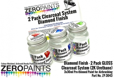 Diamond Finish - 2 Pack GLOSS Clearcoat / Klarlack System (2K Urethane) 90ml