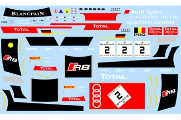 Decal Audi R8 GT #2 Customer Racing Spa 2014