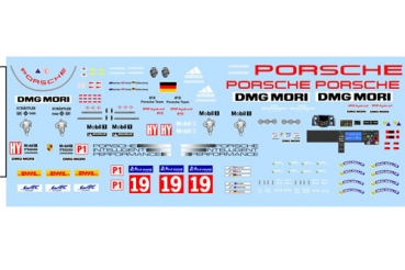 Decal Porsche 919 2015 #19 WHITE