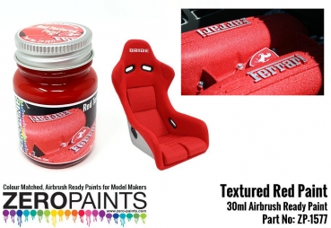 Red Textured Paint - 30ml (Engines, Interiors etc)