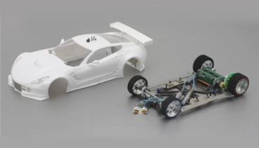 Porsche 991 GT3 RSR White Kit SC7100RC2  with GT3 Chassis SC-8003 - Kopie