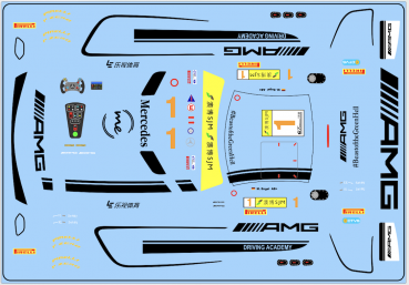 Decal Merc AMG - Driving Academy Mercedes #1