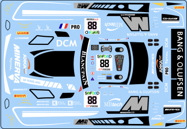 Decal Merc AMG -Mercedes-AMG AKKA ASP Team #88