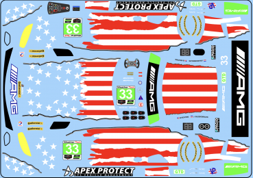 Decal Merc AMG Riley #33
