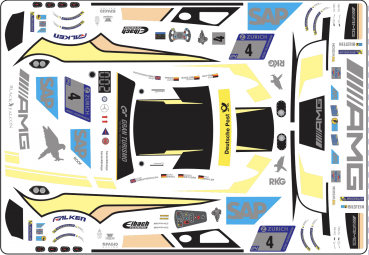 Decal Merc AMG GT3 BLACK FALCON  Nürburg Ring 2018 #4