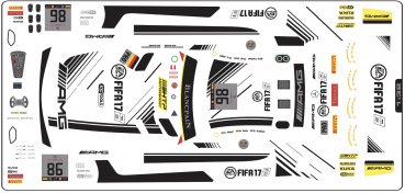 Decal Merc AMG GT3 HTP Fifa #86 Scale 1/32