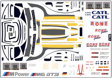 Decal BMW M6 GT3 #99 24h Spa 2017 Rowe  Scale 1/32