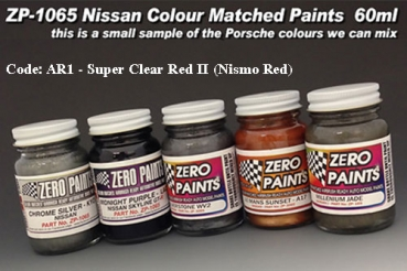Nissan Paint 60ml AR1 - Super Clear Red II (Also known as Nismo Red)