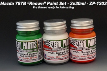 Mazda 787B Renown White/Orange/Green Set - 3x30ml