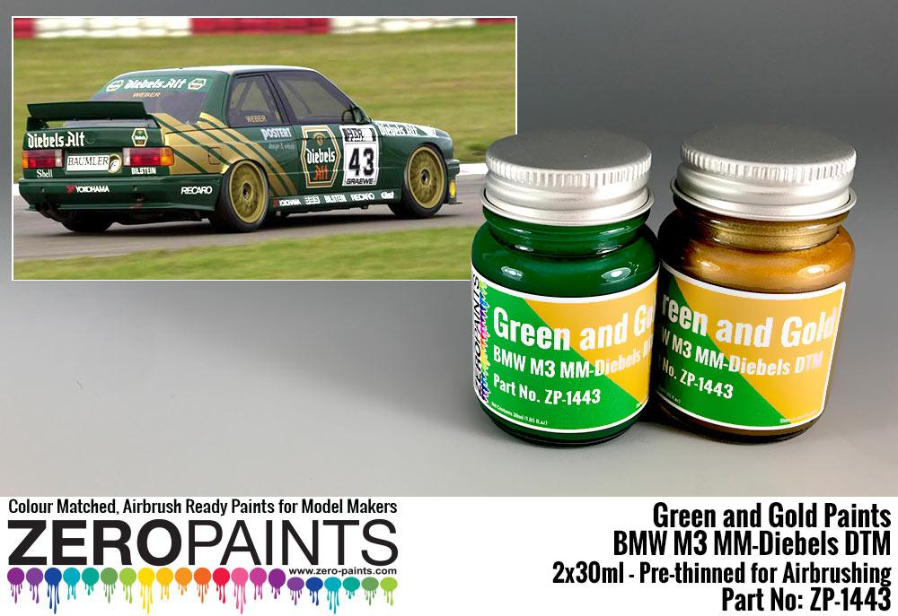 Bmw M3 Mm Diebels Dtm Green And Gold Paint Set 2x30ml