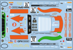 Decal Porsche 911 991 RSR GPX  Racing Gulf Imola  #12 2020