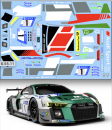 Decal Audi R8 LMS GT3 #1 Audi Sport Team Land Scale 1:32