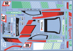 Decal Audi R8 LMS GT3 evo #29 Audi Sport Team Land Scale 1:32