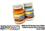 Gulf 2006 Ford GT Heritage Livery Edition Blue and Orange Paint Set 2x30ml