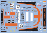 Decal Porsche 911 991 RSR GPX  Racing Gulf SPA  #20 2019