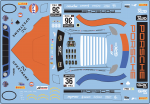 Decal Porsche 911 991 RSR GPX  Racing Gulf Imola  #36 2020