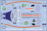 Decal Porsche 911 991 RSR #91 LM 2018 Scale 1/32