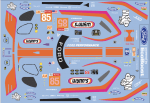 Decal Ford GT Lemans 2019 #85 Scale 1:32