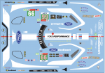 Decal Ford GT Lemans 2019 #66 Scale 1:32