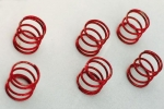 Springs chassis susp. soft red (6 pcs.)