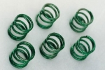 Springs chassis susp. medium green (6 pcs.)