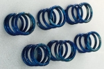 Springs chassis susp. hard blue (6 pcs.)