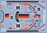 Decal Ford GT Tribute Team Deutsche Auto Zeitung  LM 1969 #68 slotfabrik