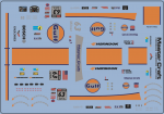 Decal Corvette C7R GULF #63