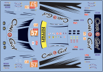 Decal Ferrari F 488 GTE - Car Guy - Le Mans 2019 - # 57