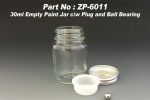 30ml Glass Jars for Paints (6x)